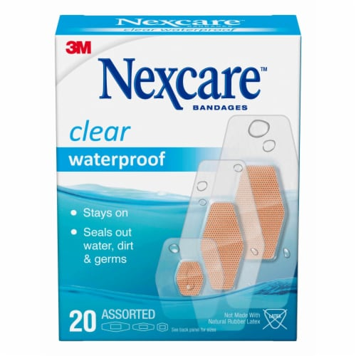 Nexcare Waterproof Clear Assorted Bandages Perspective: front