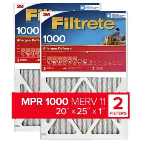 Filtrete MPR 1000 MERV 11 Allergen Defense Air Filter Perspective: front