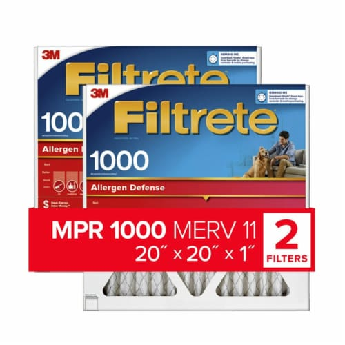 Filtrete Micro Allergen Defense Electrostatic Air Cleaning Filters - 2 pk - White Perspective: front
