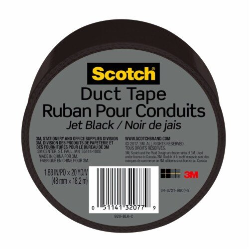 Scotch® Duct Tape - Jet Black Perspective: front