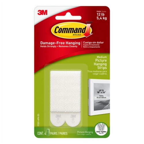 Command™ Damage-Free Medium Picture Hanging Strips Perspective: front