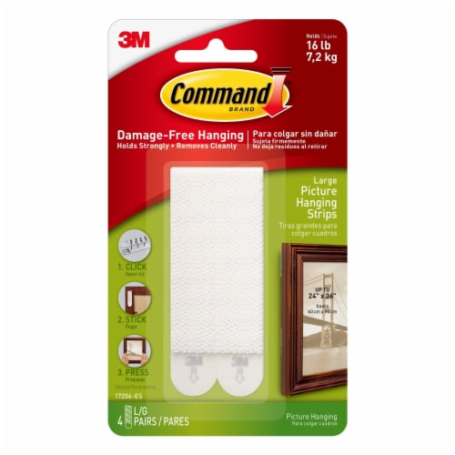 Command™ Damage-Free Large Picture Hanging Strips - White Perspective: front