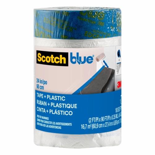 ScotchBlue™ Pre-taped Painter's Plastic Perspective: front
