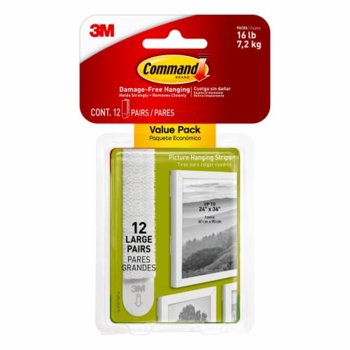 Command™ Large Picture Hanging Strips - White Perspective: front