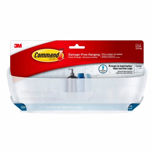 3M Command Bath Damage-Free Shower Caddy With Water Resistant Strip Perspective: front