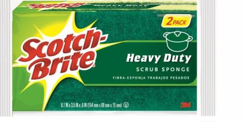 Scotch-Brite™ Heavy Duty Scrub Sponge - 2 Pack Perspective: front