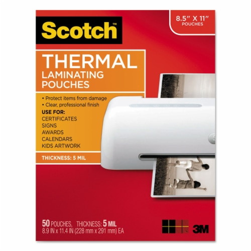 Scotch Laminating Pouches, 5 Mil, 9  X 11.5 , Gloss Clear, 50/Pack TP585450 Perspective: front