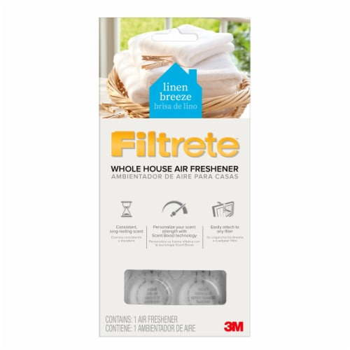 Filtrete Whole House Air Freshener- Linen Breeze Perspective: front