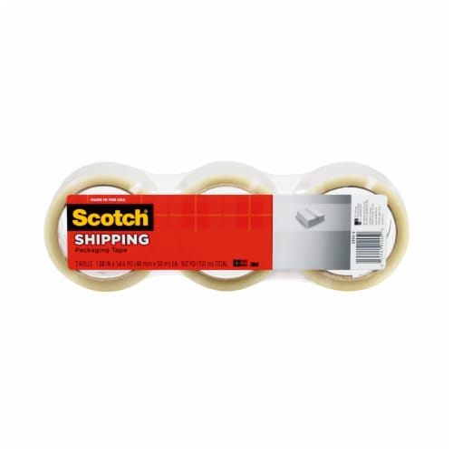 Scotch® Shipping Packing Tape - Clear Perspective: front