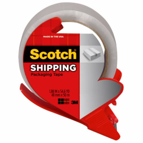 Scotch® Shipping Packaging Tape - Clear Perspective: front