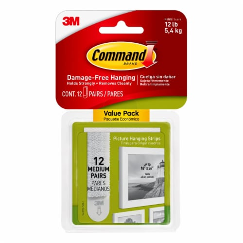 Command™ Medium Damage-Free Picture Hanging Strips Perspective: front