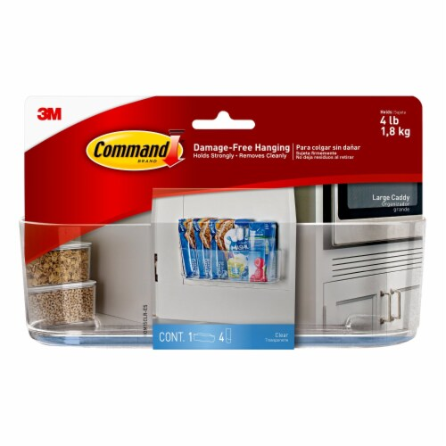 3M Command Organization Damage-Free Clear Caddy - Large Perspective: front