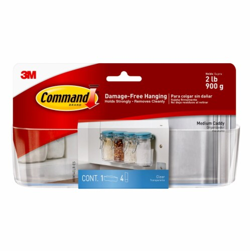 Command™ Medium Damage-Free Organization Caddy - Clear Perspective: front