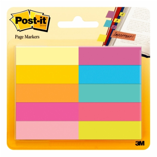 Post-it® Page Markers - 10 Pack - Assorted Perspective: front
