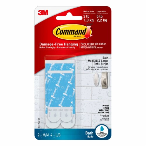 Command™ Water-Resistant Adhesive Strips Perspective: front