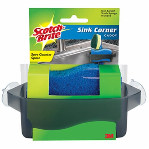 Scotch-Brite™ Corner Sink Caddy with Scrubber Perspective: front