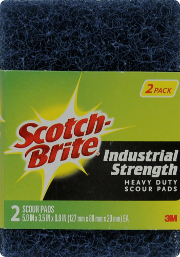 Scotch-Brite™ Industrial Strength Heavy Duty Scour Pads - Blue Perspective: front