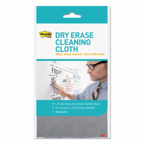 Post-It Dry Erase Cleaning Cloth, 10.63  X 10.63  DEFCLOTH Perspective: front