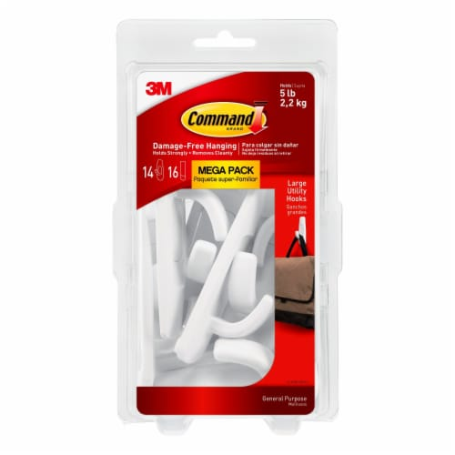 Command™ Damage-Free Large Utility Hooks - White Perspective: front
