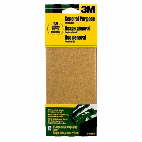 3M General Purpose Medium Grit Sandpaper Sheets Perspective: front
