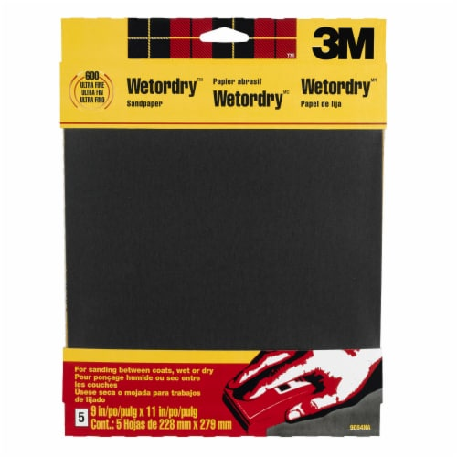 3M Wetodry Sandpaper 5 Pack Perspective: front