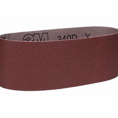 3m Sanding Belt,24 in. L x 3 in. W,120 Grit  340D Perspective: front