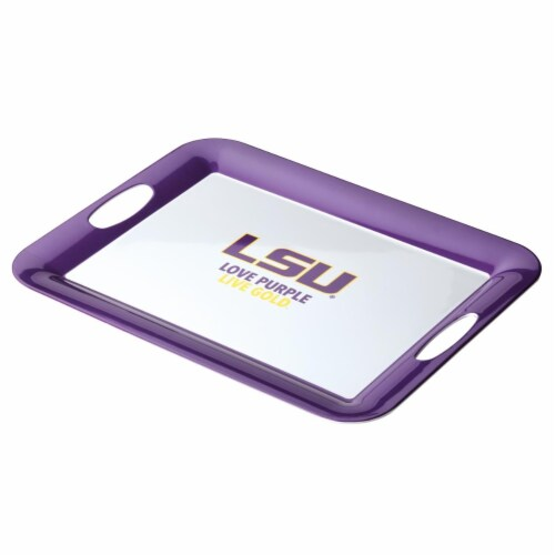 College Kitchen Collection 47635 Louisiana State University Serving Score Party Platter, 16 x Perspective: front