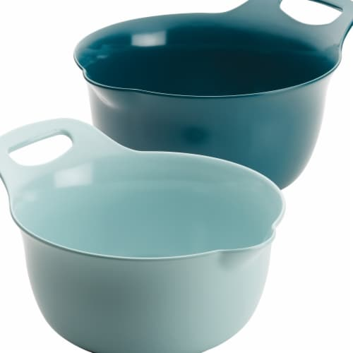 Rachael Ray Tools & Gadgets Nesting Mixing Bowl Set, 2 Piece - Light Blue & Teal Perspective: front