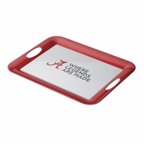 College Kitchen Collection 47678 University of Alabama Serve Serving Score Party Platter, 16 Perspective: front