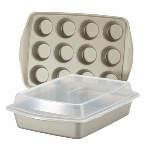 Rachael Ray 47681 Nonstick Bakeware Set - 3 Piece - Silver Perspective: front