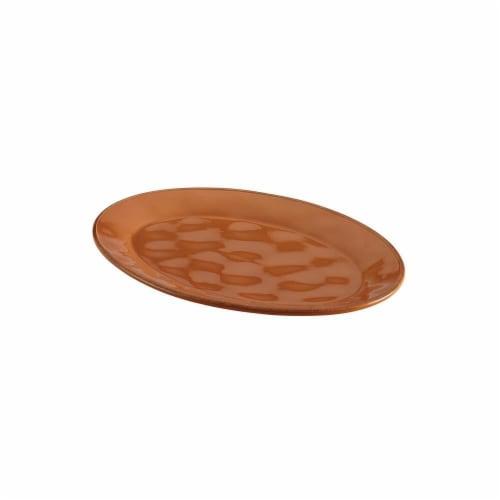 Rachael Ray Cucina Dinnerware 10 X 14 in. Stoneware Oval Platter, Pumpkin Orange Perspective: front
