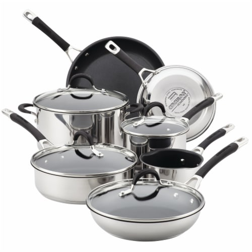 Circulon Momentum Stainless Steel Nonstick Cookware Set - Silver Perspective: front