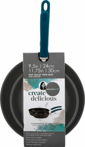 Rachael Ray Create Delicious Nonstick Deep Skillets - Teal Perspective: front