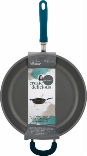 Rachael Ray Create Delicious Nonstick Deep Frying Pan - Teal Perspective: front