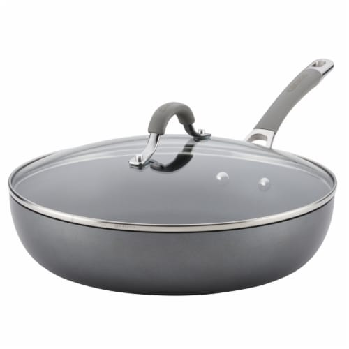 Circulon Elementum Hard-Anodized Nonstick Deep Skillet - Gray Perspective: front