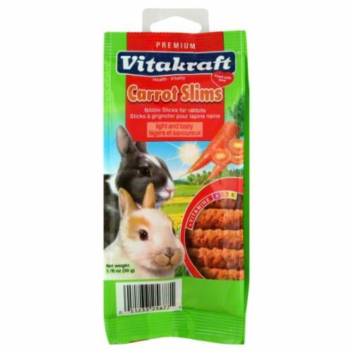 Vitakraft Carrot Slims Carrot Sticks for Small Animals Perspective: front