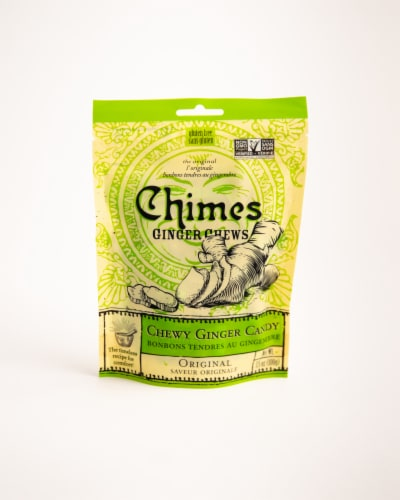 Chimes Original Chewy Ginger Candy Perspective: front