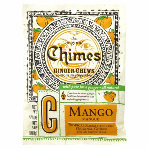 Chimes Mango Ginger Chews Perspective: front