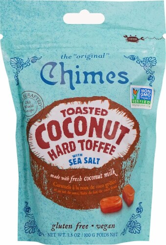 Chimes Toasted Coconut Hard Toffee Perspective: front