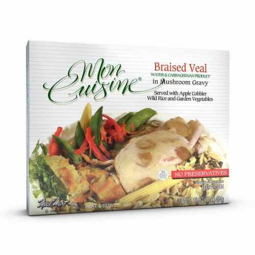 Mon Cuisine Braised Veal In Mushroom Gravy Perspective: front