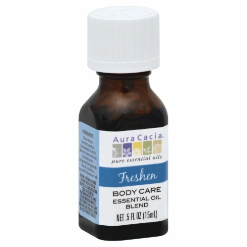 Aura Cacia Freshen Body Care Essential Oil Blend Perspective: front
