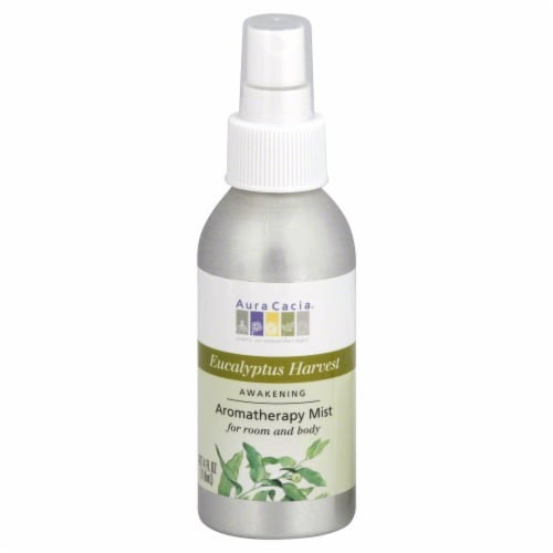 Aura Cacia Eucalyptus Harvest Aromatherapy Mist Perspective: front