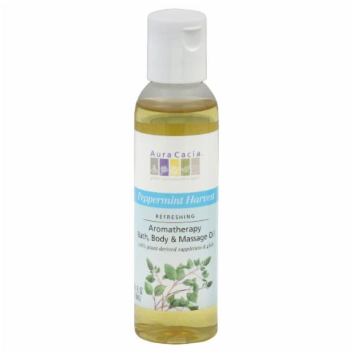 Aura Cacia Peppermint Harvest Aromatherapy Oil Perspective: front