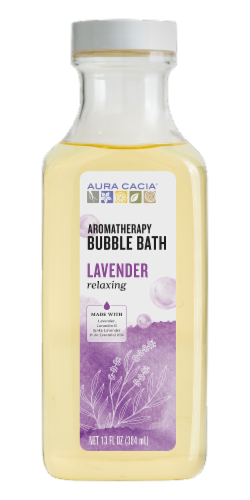 Aura Cacia Relaxing Lavender Aromatherapy Bubble Bath Perspective: front