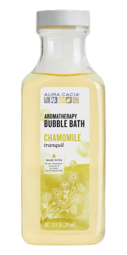 Aura Cacia Tranquility Chamomile Aromatherapy Bubble Bath Perspective: front
