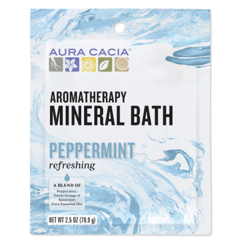 Aura Cacia Refreshing Peppermint Mineral Bath Perspective: front
