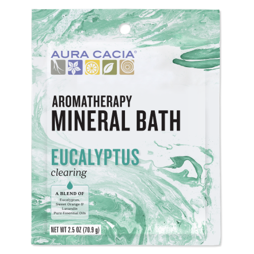 Aura Cacia Purifying Eucalyptus Mineral Bath Perspective: front