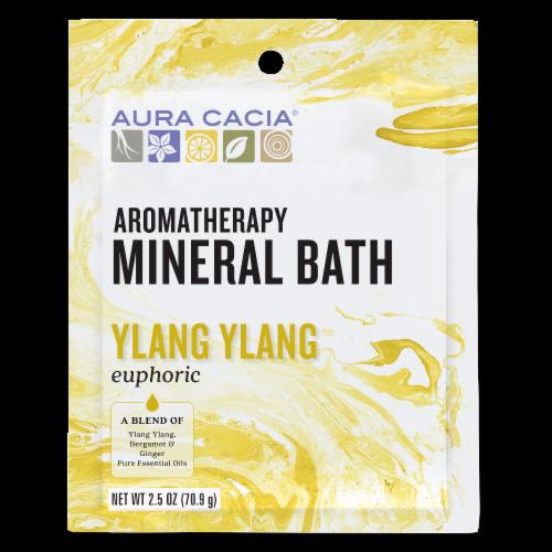 Aura Cacia Euphoria Ylang Ylang Aromatherapy Mineral Bath Perspective: front