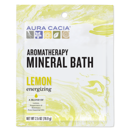Aura Cacia Energize Mineral Bath Perspective: front