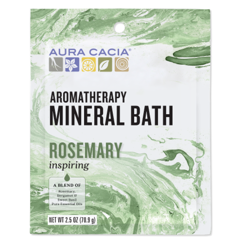 Aura Cacia Inspiration Aromatherapy Mineral Bath Perspective: front